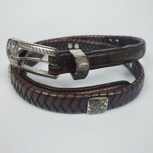 Brighton Vintage Braided Leather belt